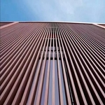 建筑外墙木纹铝方通幕墙方管铝天花