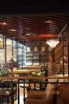 連鎖咖啡廳木紋造型鋁方通鋁四方管