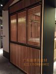 餐館裝飾木紋鋁合金隔斷屏風