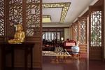 酒店装饰仿古木纹铝合金落地罩隔断