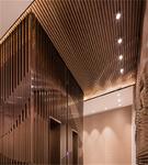 背景墙仿木纹铝条 铝质条型案例