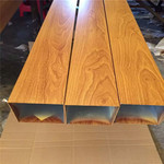 轉印木紋鋁型材 咖啡廳鋁方管
