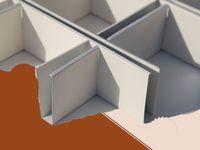 噴涂鋁格柵品牌,鋁格柵天花吊頂