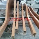 艺术铝方管吊顶造型铝方通木纹弧形