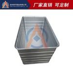 纺织品铝合金周转箱 带滑轮铝箱