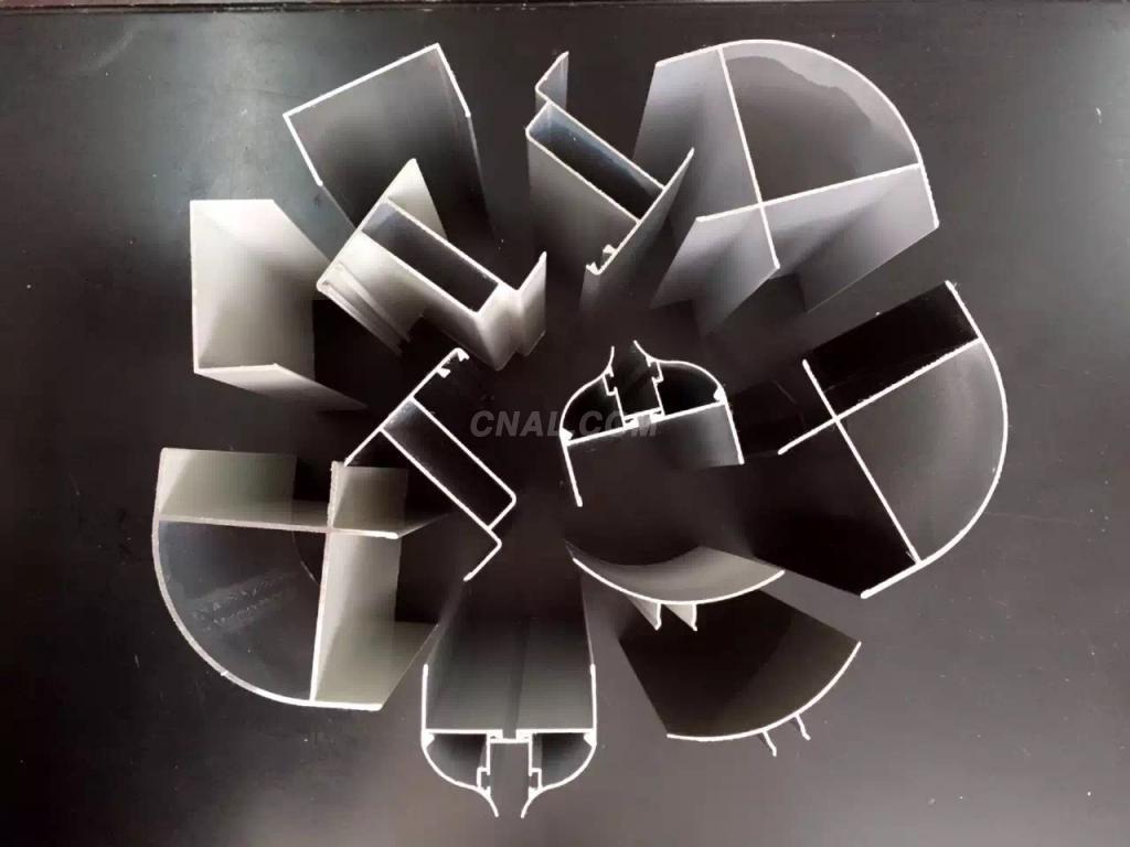 白色粉末喷涂50净化铝型材内圆弧