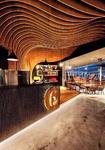 咖啡厅波浪弧形铝方通吊顶厂家