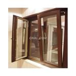 铝木复合隔热断桥平开窗铝型材