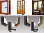 厂家供应 铝木门窗型材