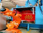 吉川機器人自動噴砂機
