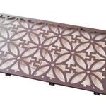 氟碳漆雕刻镂空红铜色铝板格栅