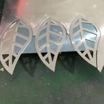 弧面鋁單板雕刻字造型定制