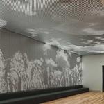 形象墙冲孔铝板发光字形象墙铝单板